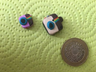 instagram camera made with polymer clay
