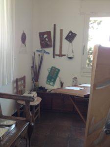 Salvador Dali's studio