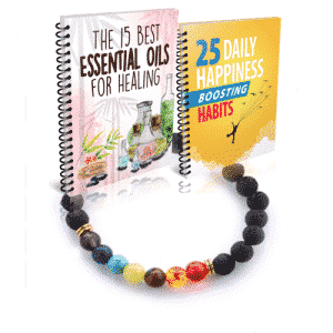 Essential oils - daily happiness boosting habits - chakra bracelet