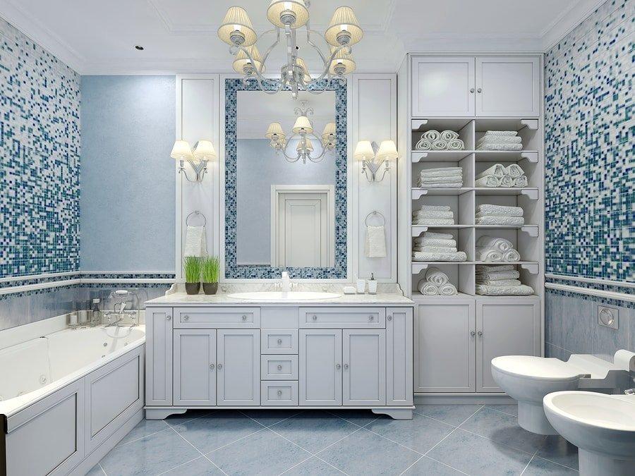 Feng Shui mirror bathroom