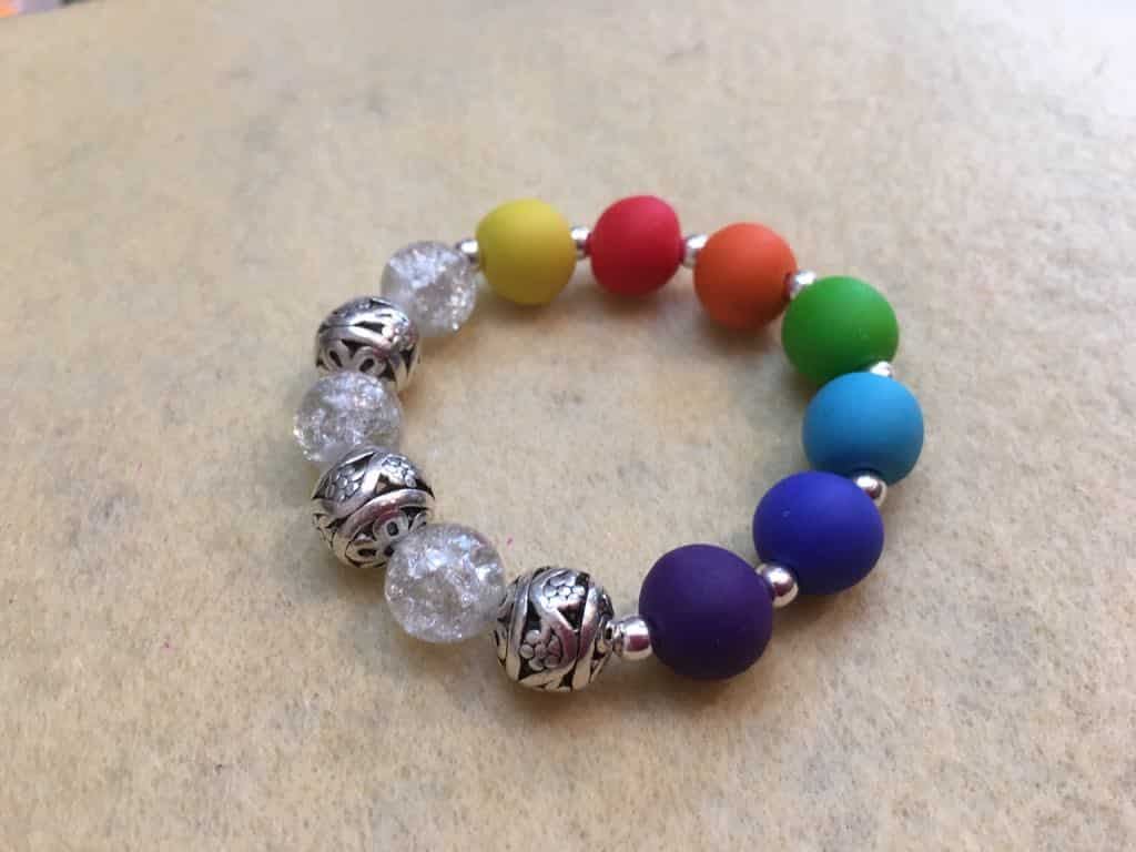 How Make a Chakra Bracelet using polymer clay