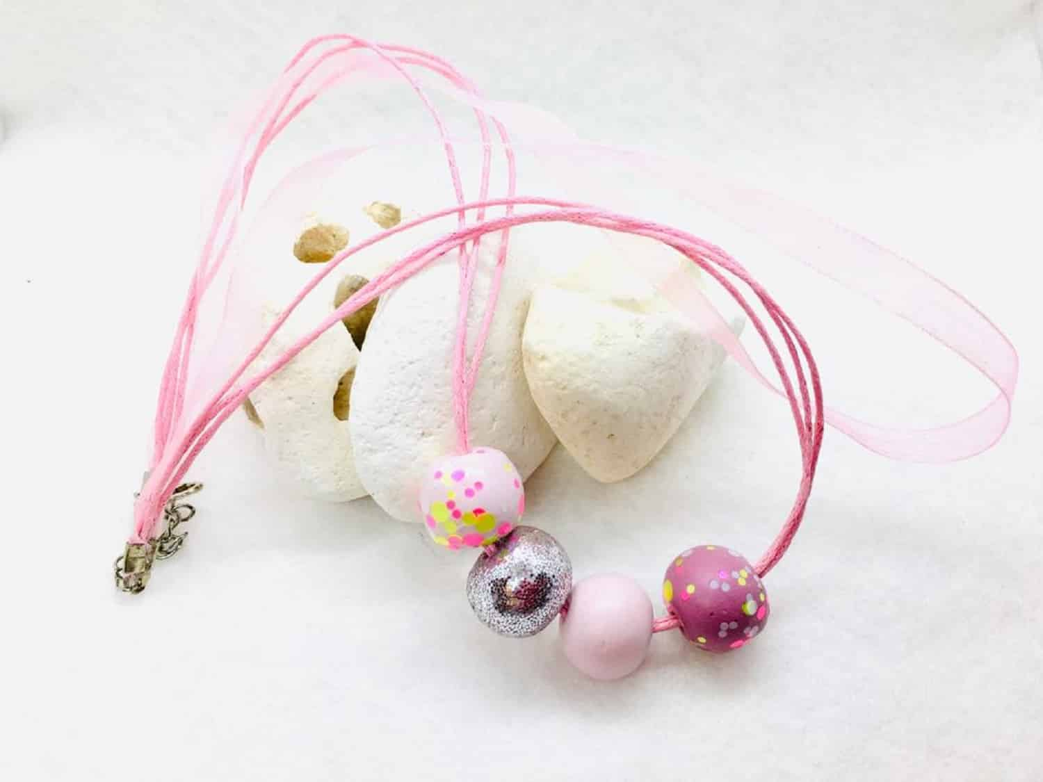 Rose Beaded Handmade Necklace