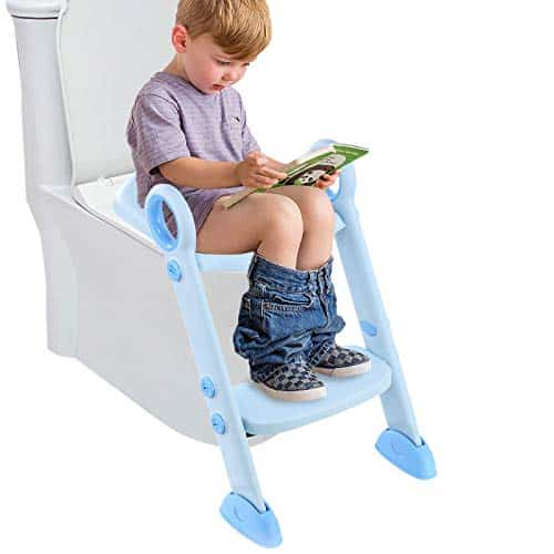 Example of child toilet seat training