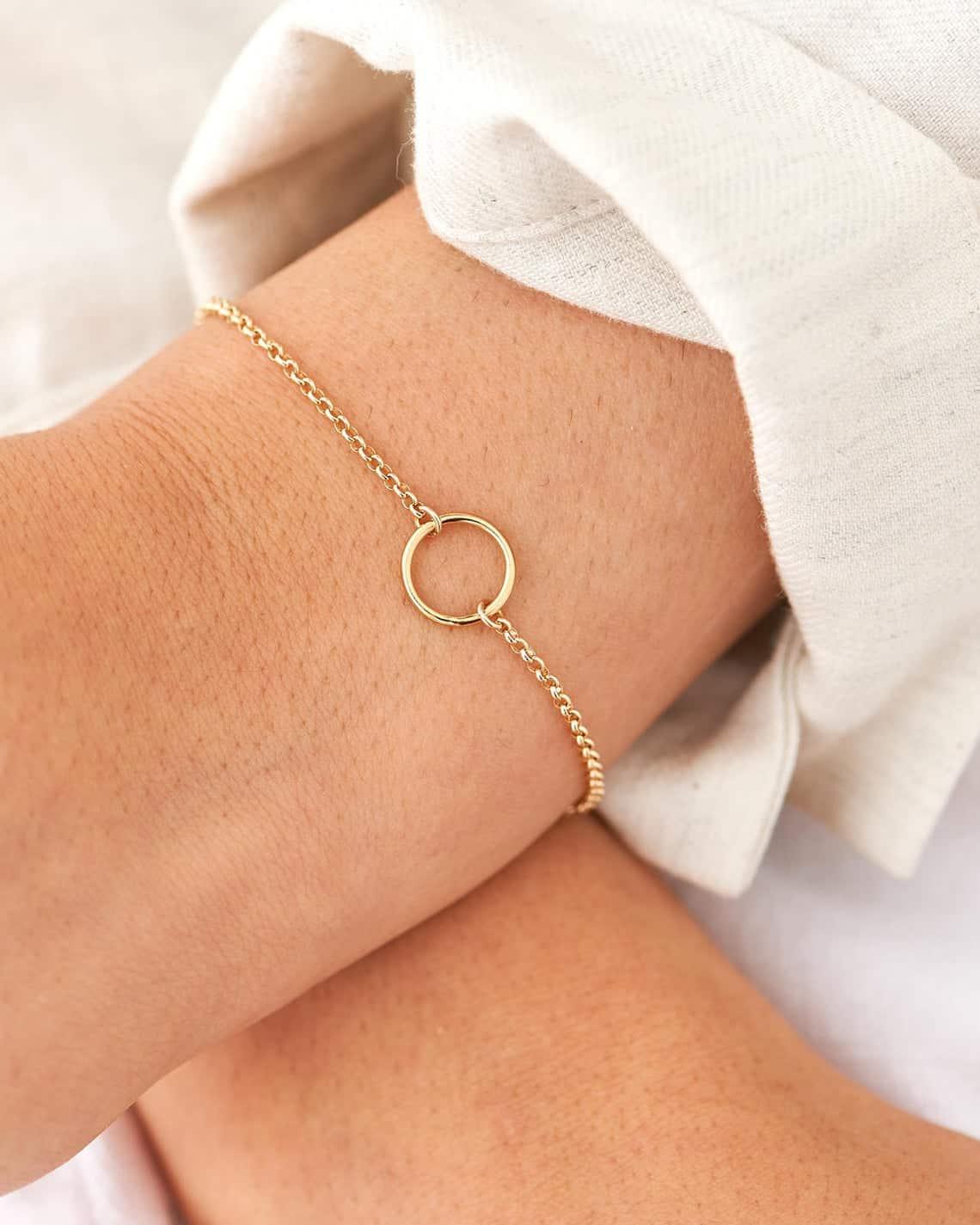 Karma circle jewellery by BlushesandGold Etsy Shop
